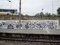 Street art at Coimbra train station