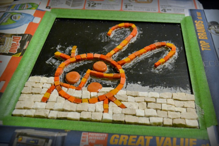 ladybug mosaic - work in progress