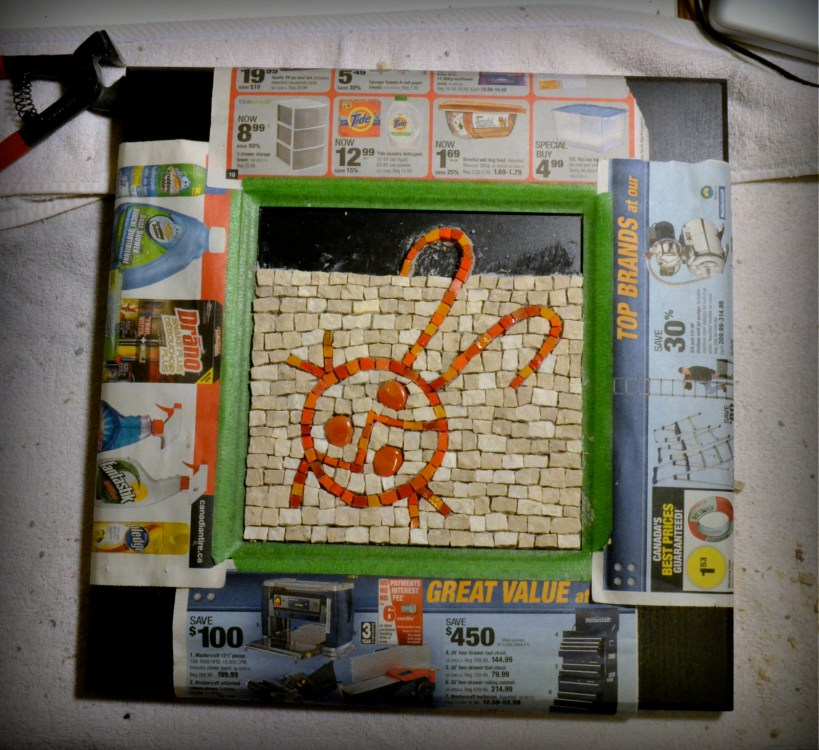 doodle bug mosaic - work in progress
