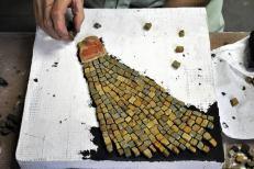 sandstone mosaic work in progress