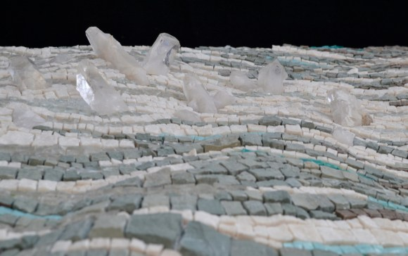 Sea ice mosaic by Julie Sperling (detail of topography and quartz)