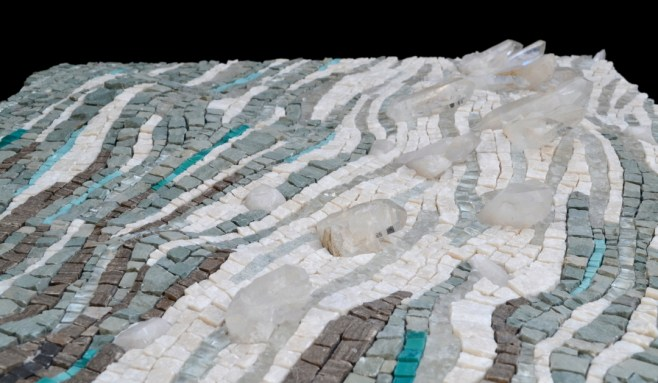 Sea ice mosaic by Julie Sperling (side view)
