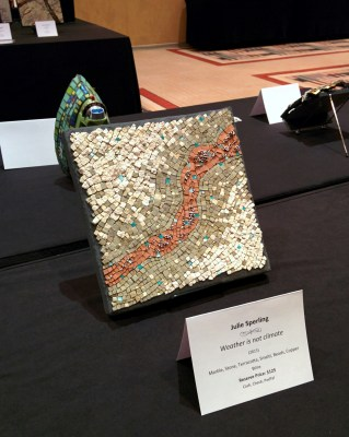 """Julie Sperling """"Weather is not climate"""" mosaic at SAMA salon 2015"""