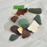 Bermudian sea glass from vacationing friends