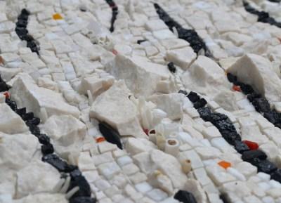 """Black carbon (Potent but actionable)"" mosaic by Julie Sperling -- detail"