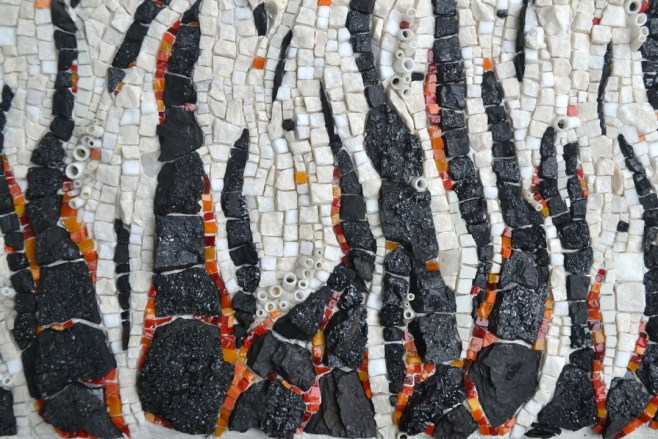 """Black carbon (Potent but actionable)"" mosaic by Julie Sperling"