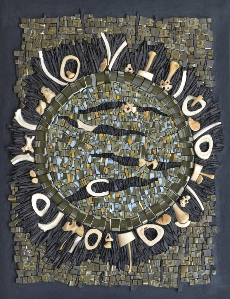 Julie Sperling mosaic about climate change and meat consumption