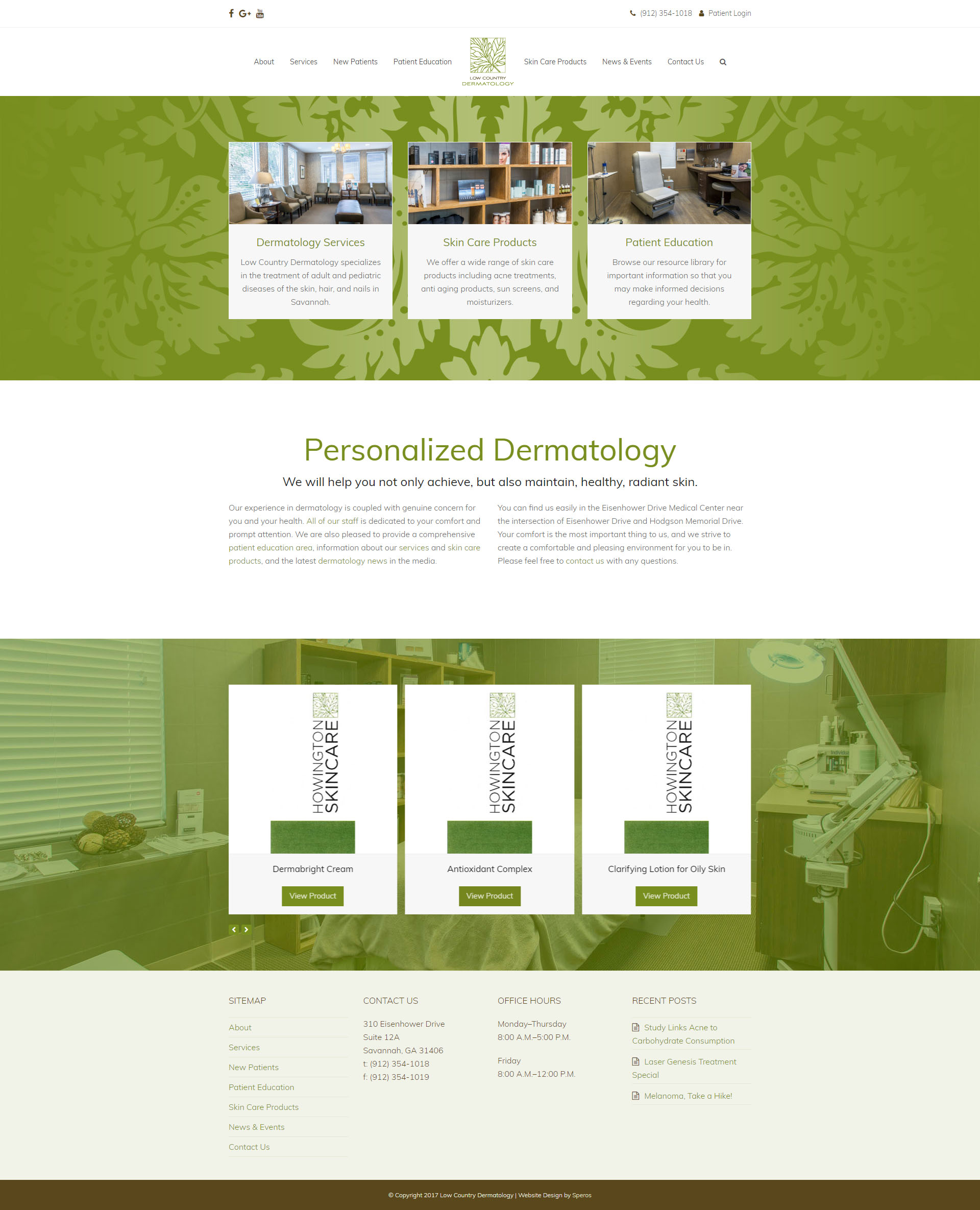 Low Country Dermatology - Speros Web Design - Savannah