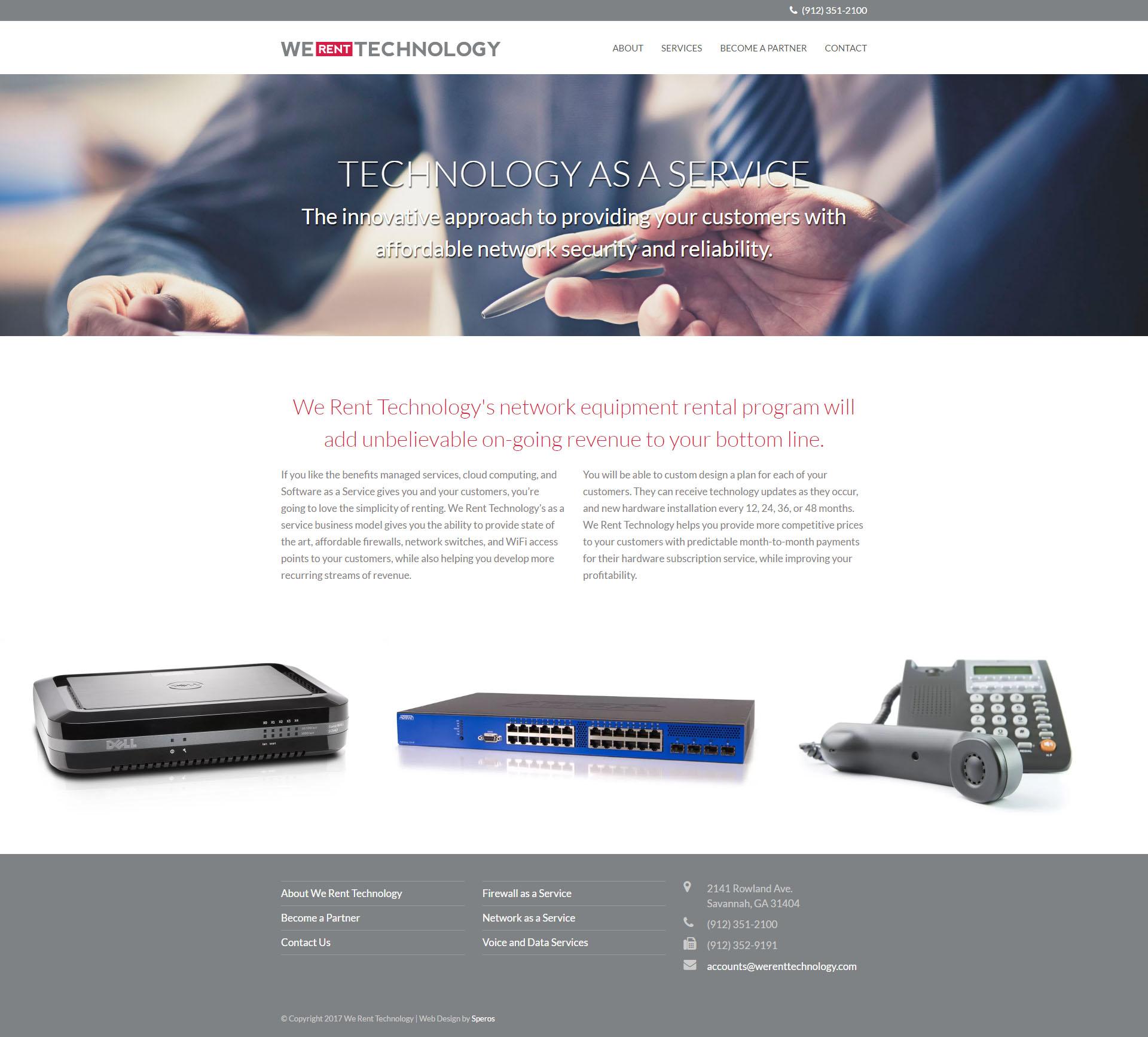We Rent Technology Website