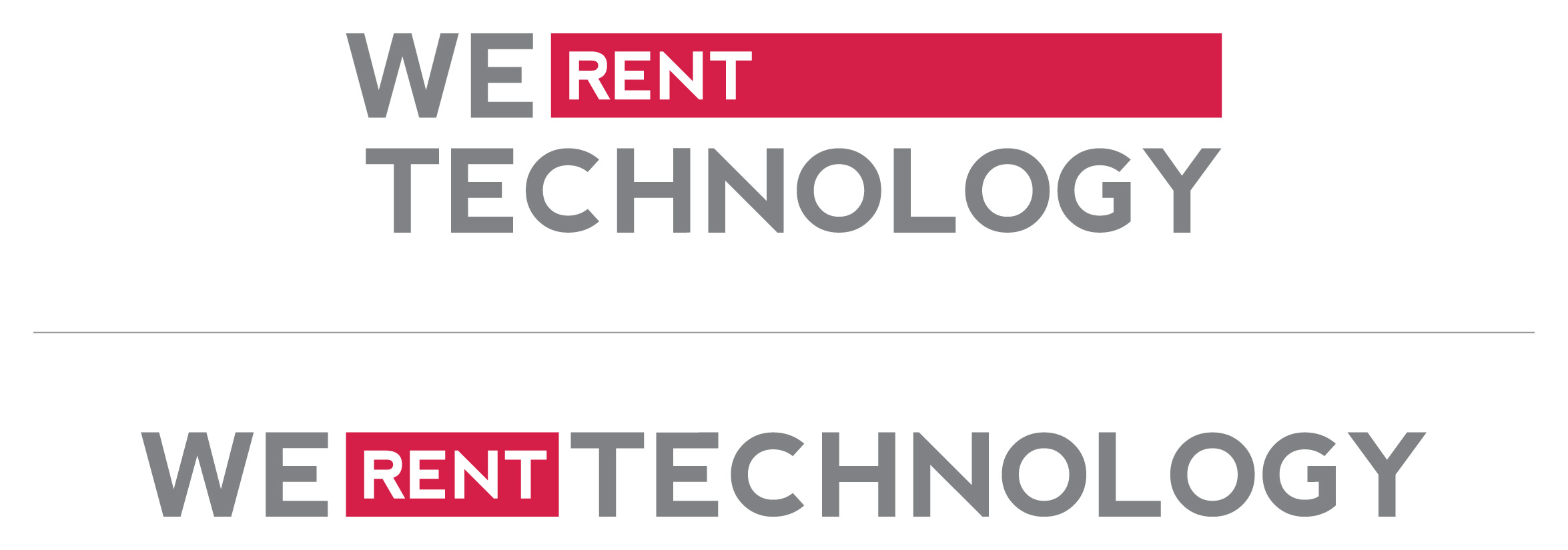 We Rent Technology Logos
