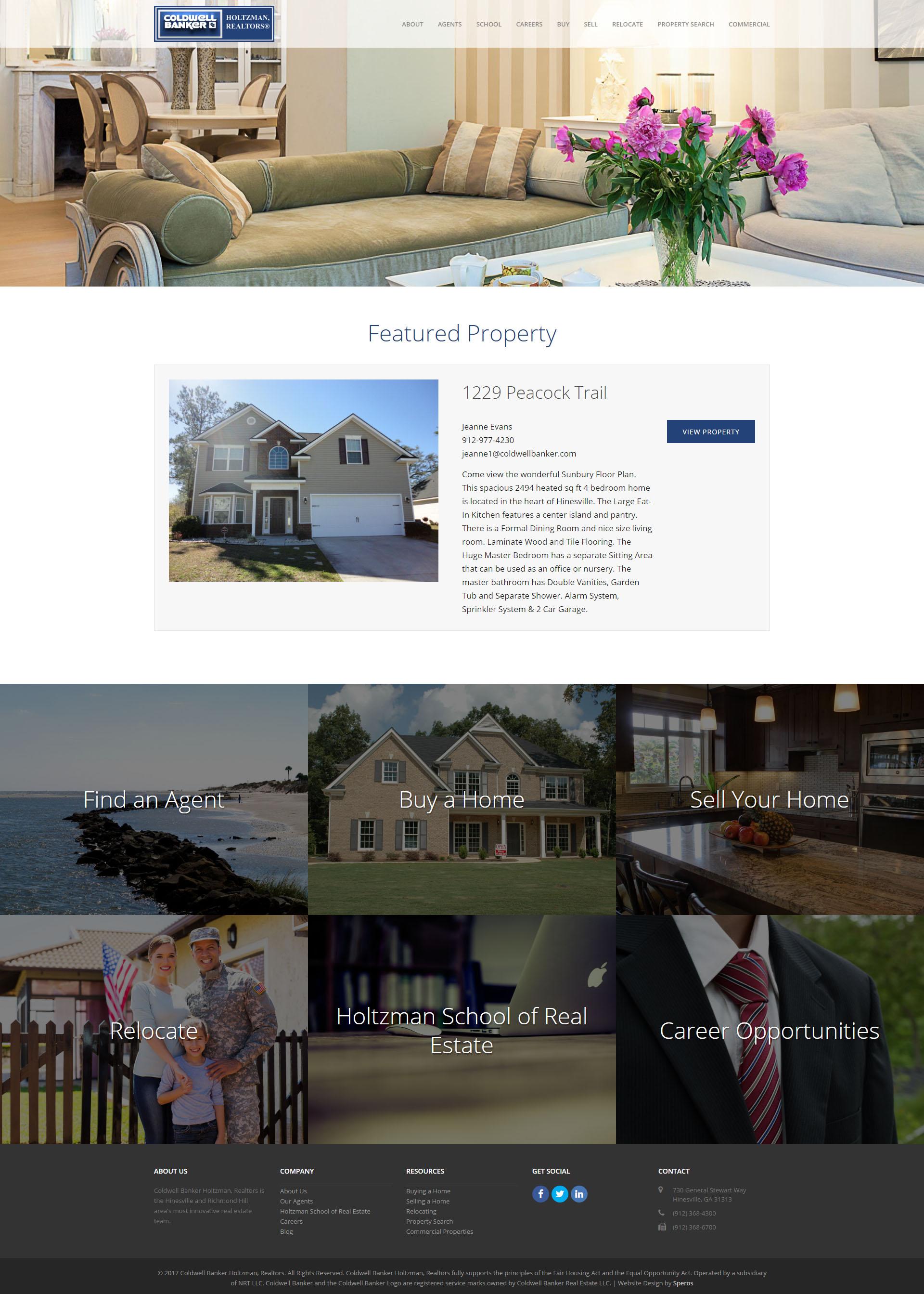 Coldwell Banker Holtzman Realtors Website