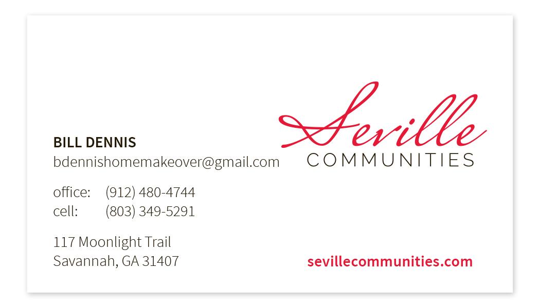 Seville Communities Business Card