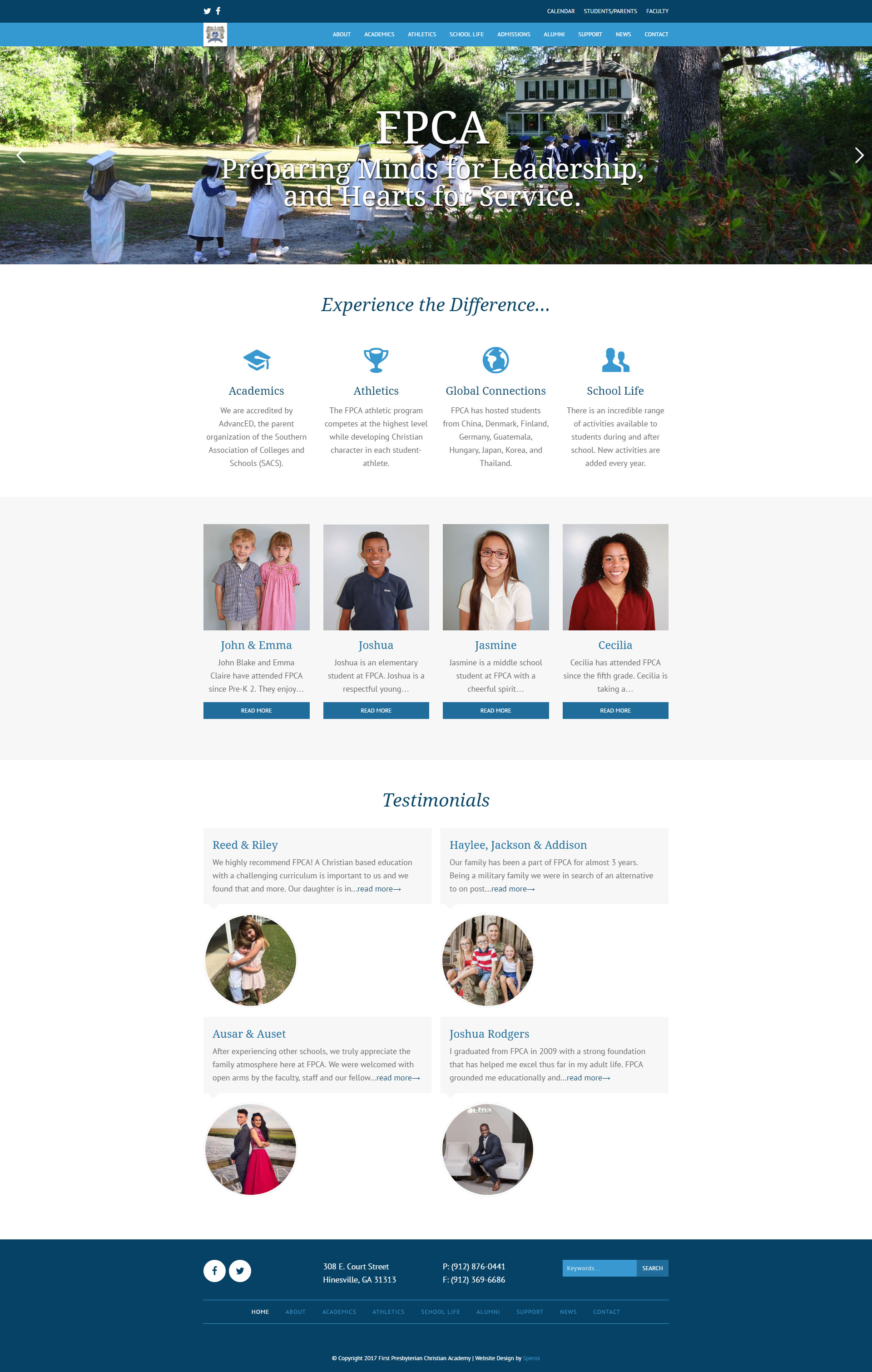First Presbyterian Christian Academy Website
