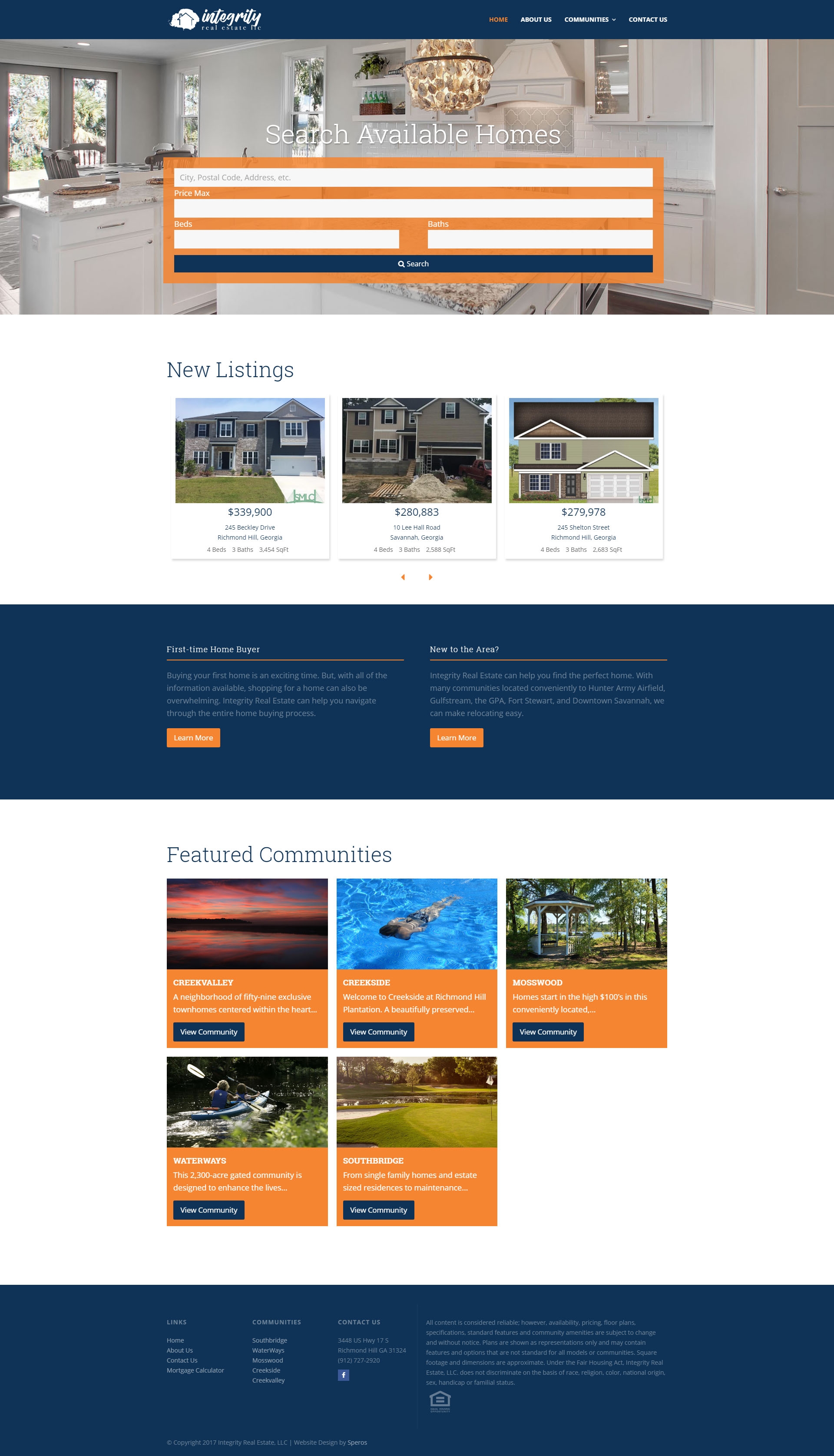 Integrity Real Estate website design