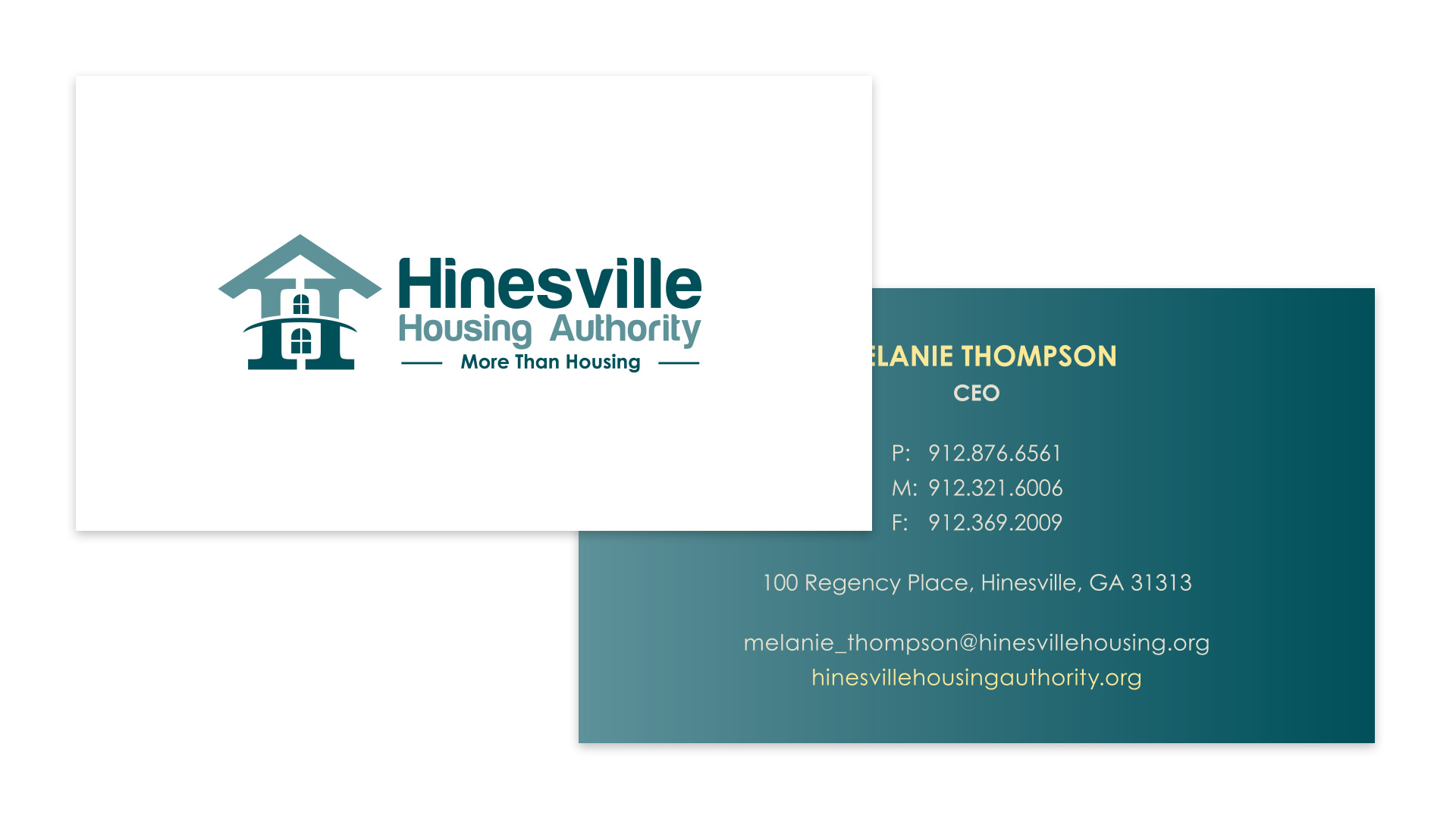 Hinesville Housing Authority Business Cards - Speros - Savannah, GA