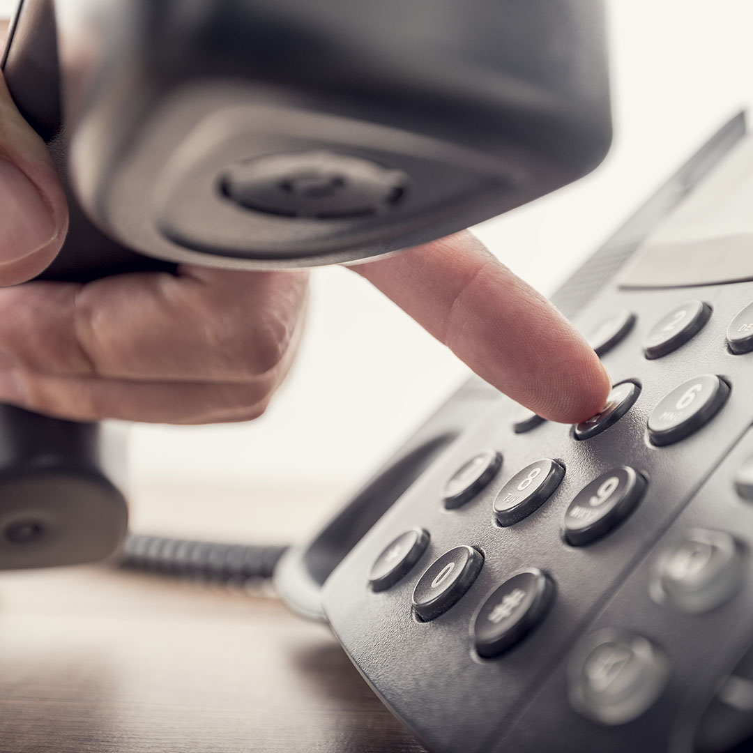 Up-close photo of a voip phone - Business Solutions - Savannah, GA