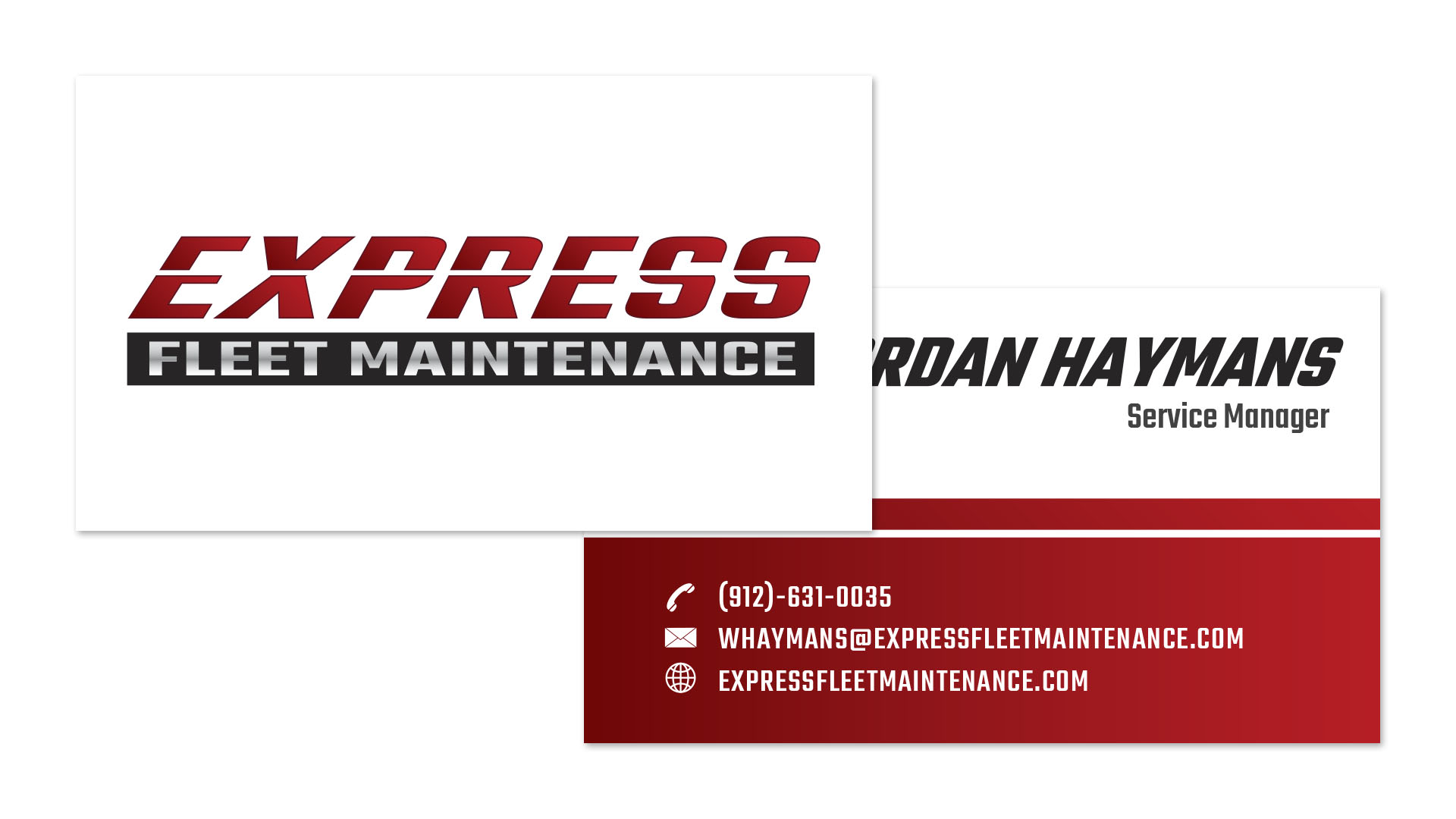 Express Fleet Maintenance business cards - Speros - Savannah, GA