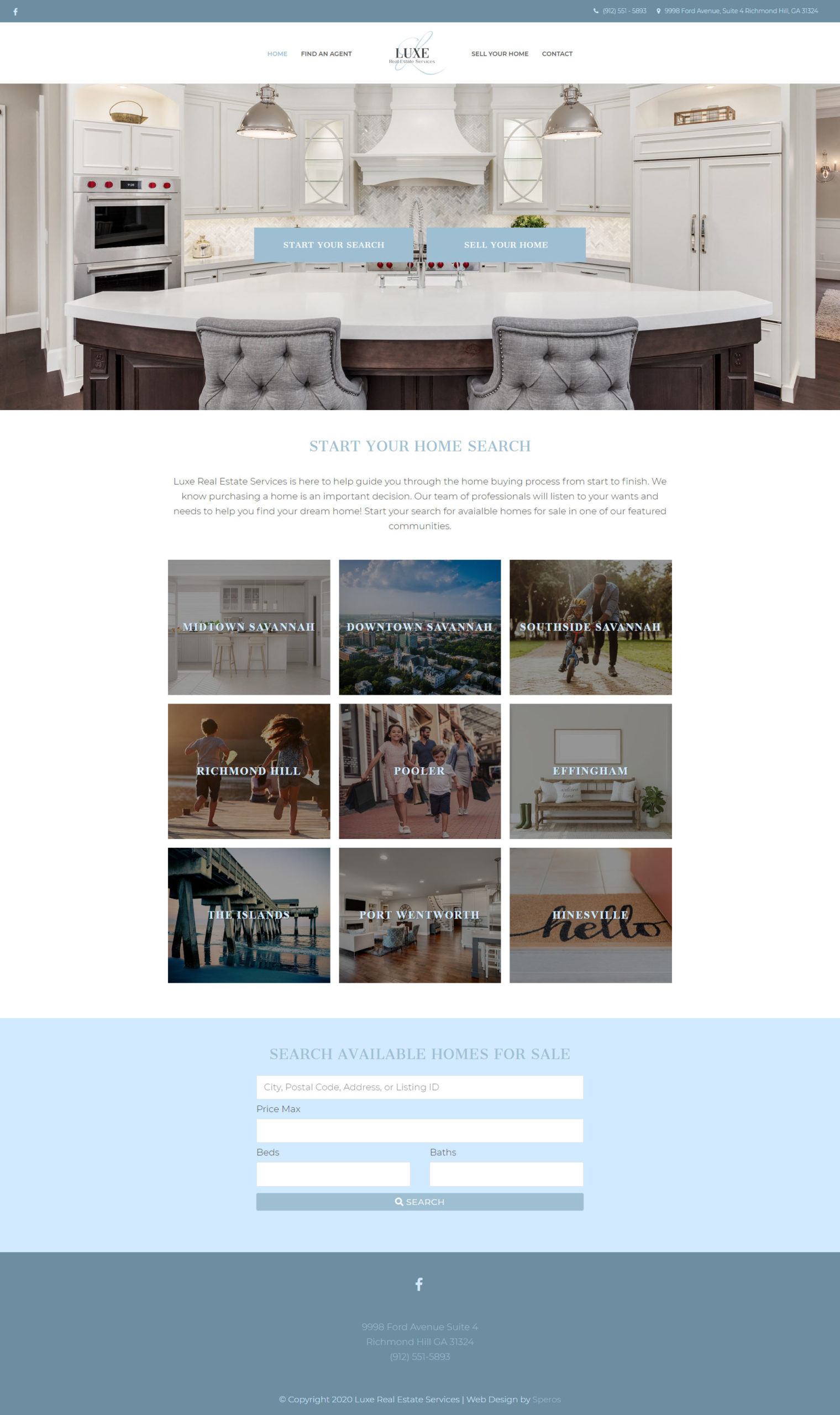 Luxe Real Estate Services homepage - Speros - Savannah, GA