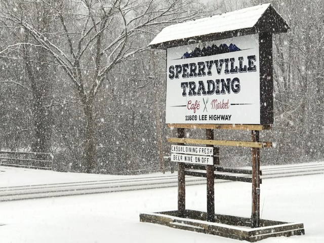 Picture of Sperryville Trading Sign - Snow Day!
