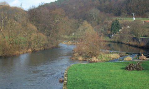 Die Fränkische Saale in Schönau
