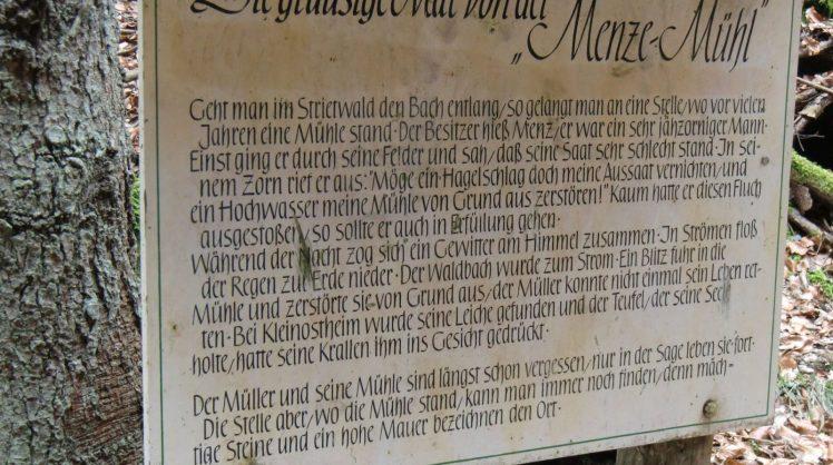 Menze-Mühle Sage