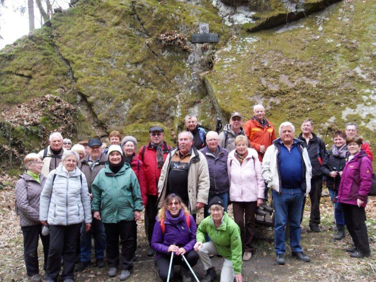 Gruppenfoto am Jahnfelsen