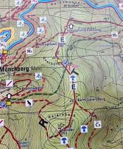 Mönchberg-Wandertafel