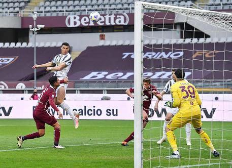Serie A soccer match Torino FC vs Juventus