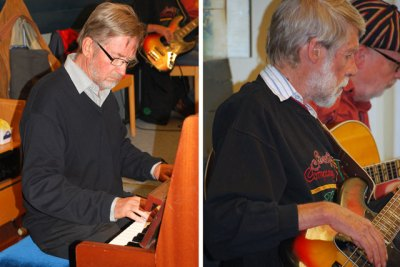 Lennart Mattsson, piano, Ingvar Junehall, bas.