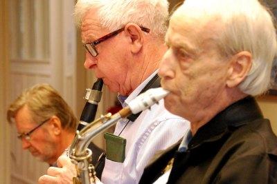 Sören Lindgren, klarinett och Tore Randin, sax.