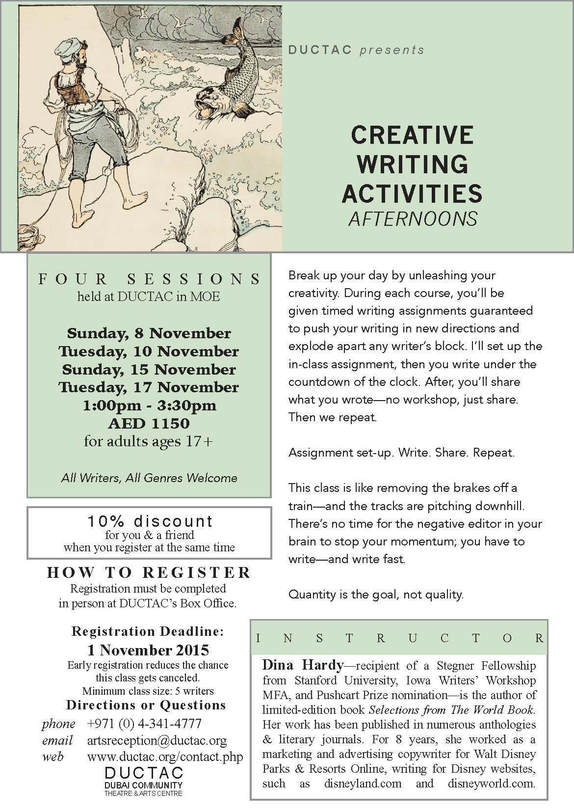 Creative Writing Courses With Dina Hardy Spf 110