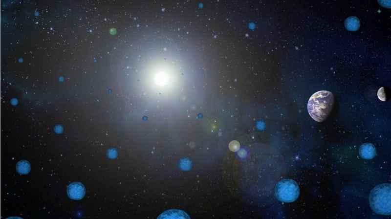 4 Sun Earth Moon Blue Spheres
