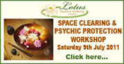 Space Clearing & Psychic Protection Workshop