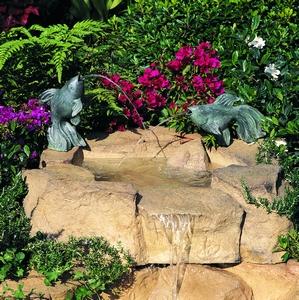 Goldfish Pair Garden Fountain