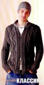 Вязаная куртка и шапка (Вязание для мужчин) | Вязание ...