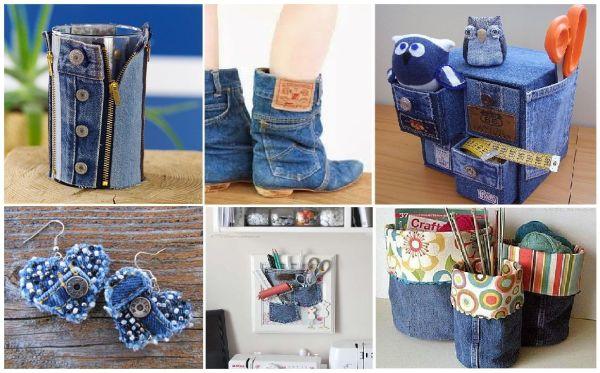 Что можно сделать из старых джинсов своими руками для дома