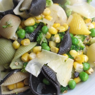 Corn and Peas Conchiglie Pasta