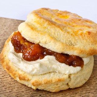 Scones with Pumpkin Citrus Marmalade