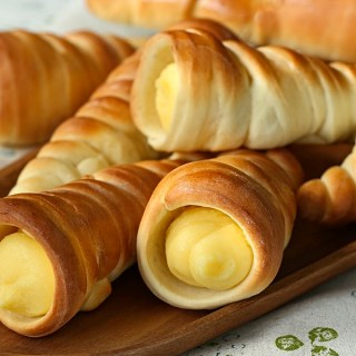 Creamy Custard Horns