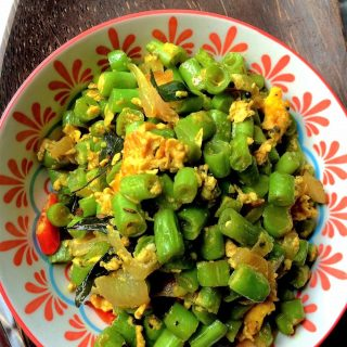 Stir Fried French Beans with Eggs