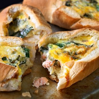 Baked Salmon and Egg Rolls