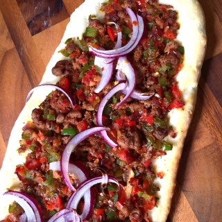 Spicy Minced Lamb Pizza
