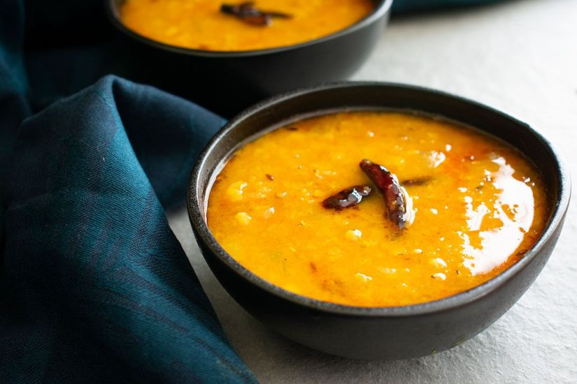 Indian red lentil Dal (Masoor Dal Tadka)
