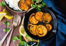 Begun Bhaja (Bengali eggplant fry)