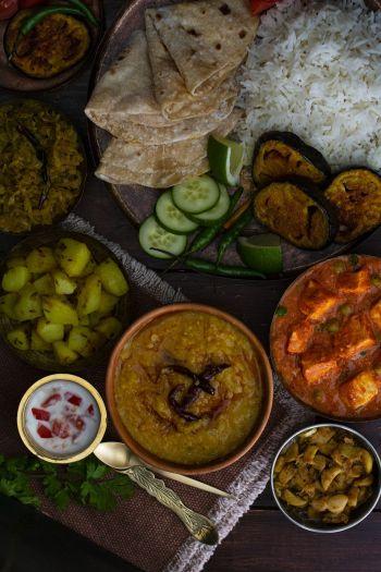 Comida Vegetariana Hindú