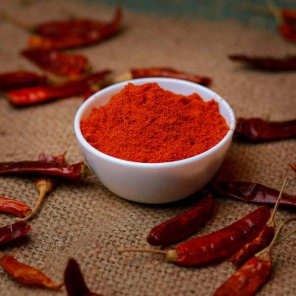Home made red chilli powder