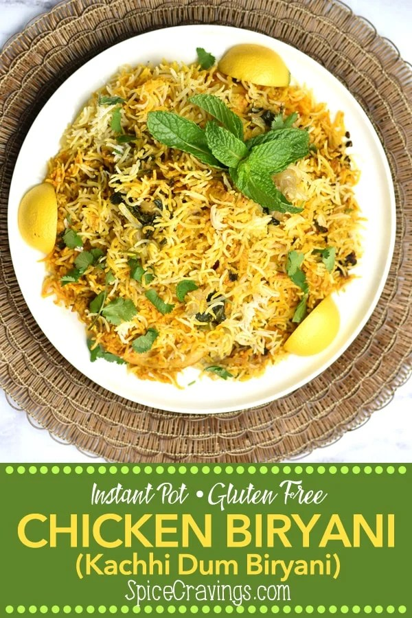 Instant Pot Chicken Biryani is a one-pot Indian classic, where marinated chicken is cooked with aromatic basmati rice flavored with saffron & garam masala. #spicecravings #wprecipemaker #chicken #rice #glutenfree #instantpotofficial @instantpotofficial #food #foodie #foodblogger #delicious  #indian #recipe #instantpot #recipes #easyrecipe #instagood #foodphotography #tasty