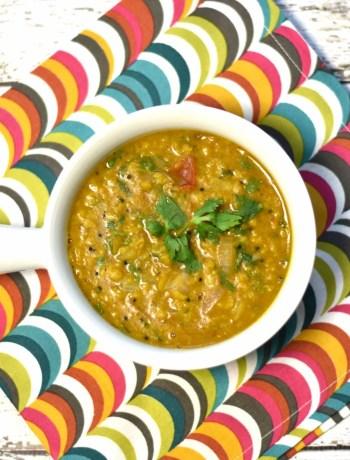 Toor Dal tadka, Split Pigeon pea soup, lentil soup, Instant Pot Soup, garam masala kitchen