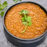 Ethiopian Red Lentil Stew- Misir Wot by Spice Cravings. Misir Wot is an Ethiopian lentil stew made by cooking lentils in clarified butter,Ghee, & 'Berbere' spice blend. This recipe is made in an instant pot. #food #foodie #foodblogger #delicious #recipe #instantpot #recipes #easyrecipe #cuisine #30minutemeal #instagood #foodphotography #tasty