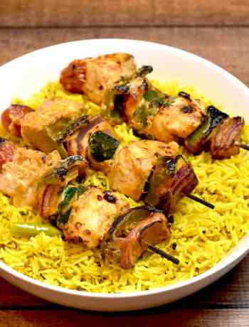 Chicken-Skewers-and-Lemon-Rice- Instant Pot / Pressure Cooker